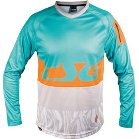 TSG Breeze LS Jersey Men turquoise-acid orange